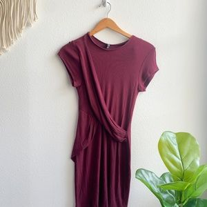 Cotton On Sweater Dress Maroon Sz. M